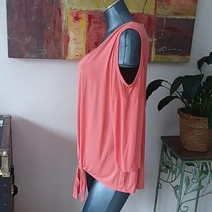 NY & company cold shoulder v-neck 3/4 sleeve